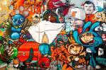 Un murale del centro policulturale Friche la Belle de Mai, uno dei più popolari di Marsiglia